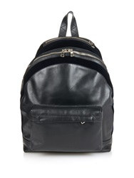 Balmain Leather And Velvet Backpack