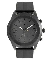 Unlisted Watch Men's Chronograph Black Silicone Strap Ul5007