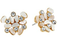 Kate Spade Disco Pansy Cluster Studs Earrings Cream Multi Earring