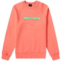 Tres Bien Chubby Font Souvenir Sweat Orange