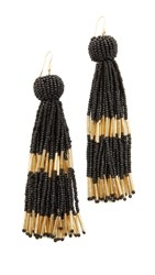 Vanessa Mooney The Damzel Earrings Black Gold