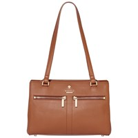 Modalu Pippa Leather Small Shoulder Bag Tan