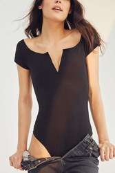 Out From Under V Wire Off The Shoulder Bodysuit Black