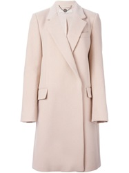 Stella Mccartney Double Breasted Coat Pink And Purple