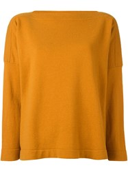Studio Nicholson Wide Fine Knit Jumper Yellow And Orange