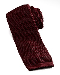 Charvet Knit Silk Tie Dark Red Dark Red