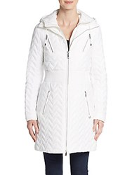 Dawn Levy Packable Hooded Jacket Angel White