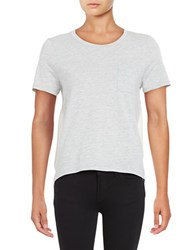 French Connection Hopper Short Sleeved Modal Tee Grey