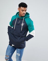 Sik Silk Siksilk Retro Hoodie In Navy With Half Zip