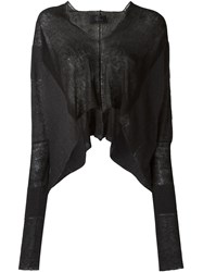 Lost And Found Ria Dunn Cropped Batwing Sleeve Cardigan Black