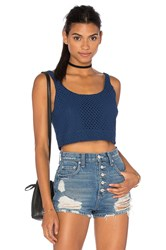 Wayf Cropped Tank Blue
