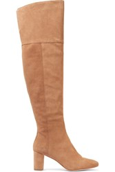 Loeffler Randall Suede Over The Knee Boots Sand