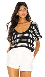 Callahan Taylor Knit Top In Black. Black And White