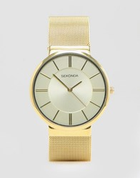 Sekonda Gold Mesh Watch Exclusives To Asos Gold
