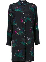 Paul Smith Ps By Printed Shirt Dress Black