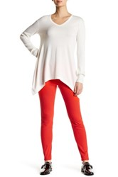 Hue The Original Jeans Solid Legging Red
