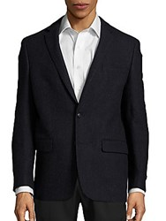 John Varvatos Usa Wool And Cashmere Blend Blazer Navy