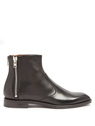 Givenchy Zip Trimmed Leather Chelsea Boots Black