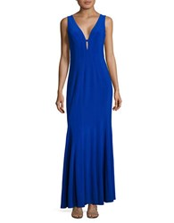 Decode 1.8 Sleeveless Fit And Flare Gown Royal