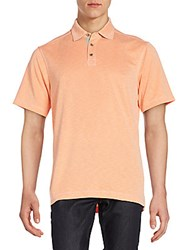 Saks Fifth Avenue Jersey Polo Shirt Tangelo