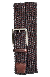 Men's Torino Belts Woven And Leather Belt Black Brown