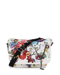 Collage Canvas Messenger Bag Ecru Multi Ecru Multi Marc Jacobs