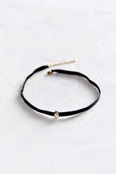 Urban Outfitters Only Love Leather Stone Choker Necklace Black