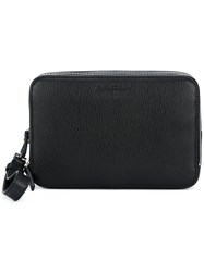 Salvatore Ferragamo Embossed Pattern Clutch Black