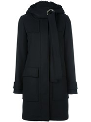 Proenza Schouler Hooded Coat Black
