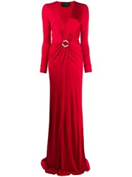 Philipp Plein Evening Dress Red