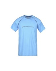 Peak Performance T Shirts Turquoise