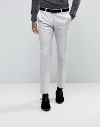 Noose And Monkey Super Skinny Suit Trousers In Metallic Silver