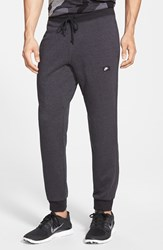 Men's Nike 'Aw77' French Terry Knit Jogger Pants Anthracite Black Heather
