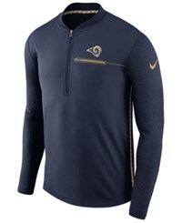 Nike Men's Los Angeles Rams Coaches Quarter Zip Pullover Navy