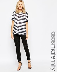 Asos Maternity Suedette Legging With Pu Detail Black