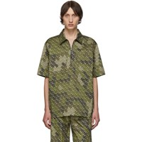 Burberry Khaki Monogram Print Short Sleeve Shirt