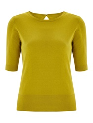 Havren Short Sleeved Jumper Chartreuse