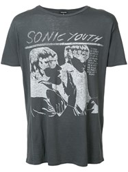 R 13 R13 Sonic Youth Print T Shirt Black