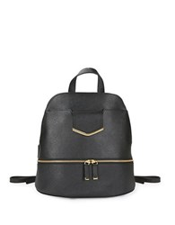 Calvin Klein Textured Leather Backpack Black