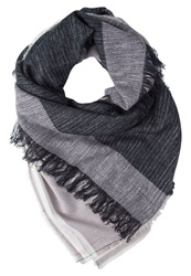 Evenandodd Scarf Black Grey