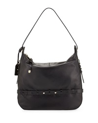 Badgley Mischka Lauren Leather Hobo Bag Black