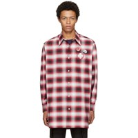 Marc Jacobs Red Oversized Plaid Shirt