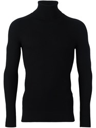 Ports 1961 'Fully Fashioned' Turtleneck Sweater Black