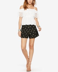 Denim And Supply Ralph Lauren Atlantic Floral Print Shorts Black Multi