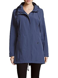 Calvin Klein Long Sleeve Hooded Jacket Blue
