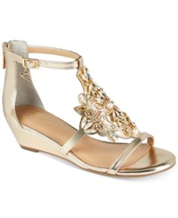 Thalia Sodi Jamee Wedge Sandals Created For Macy's Women's Shoes Gold
