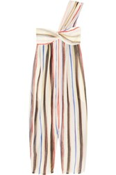 Marysia Venice Striped Cotton And Silk Blend Jumpsuit White