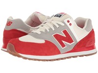 New Balance Ml574 Retro Sport Chinese Red Silver Mink Men's Shoes Multi