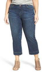 Sejour Plus Size Women's Wide Leg Crop Jeans