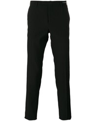 Pt01 Tonal Check Tapered Trousers Black